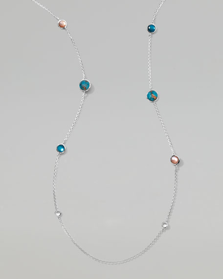 "Wonderland Malibu Lollipop Necklace, 37""L"