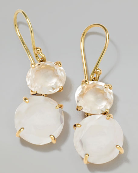 18k Gold Rock Candy Gelato Oval Small Snowman Earrings