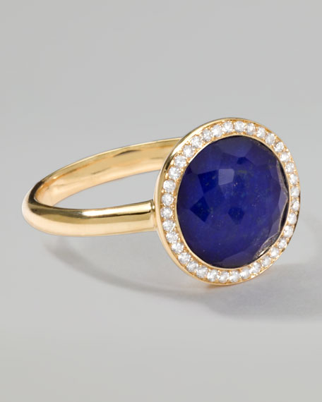 Rock Candy Mini Lollipop Diamond Lapis Ring