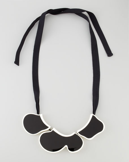 Enamel Bib Ribbon Necklace