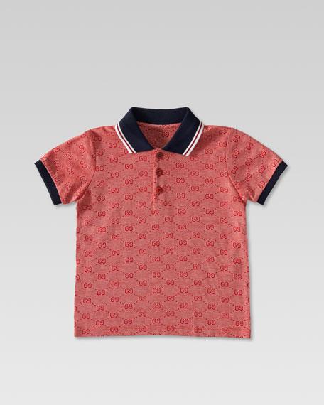 5874fac9f Gucci GG Jacquard Polo Shirt