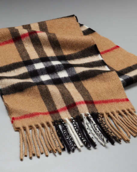 Children's Check Scarf