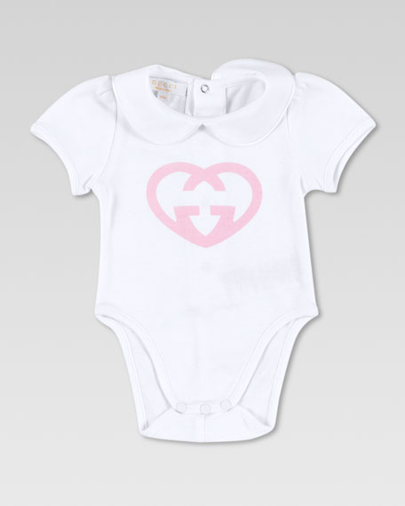 GG Heart-Print Bodysuit