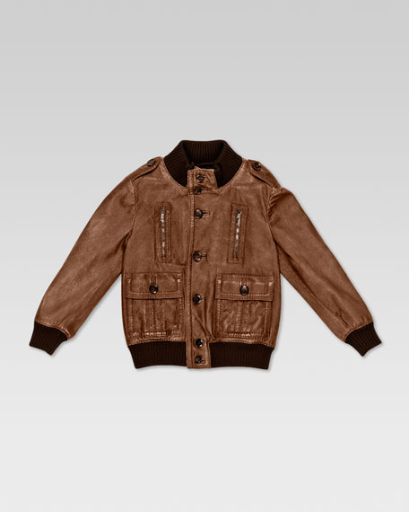 Guccissima Leather Bomber Jacket