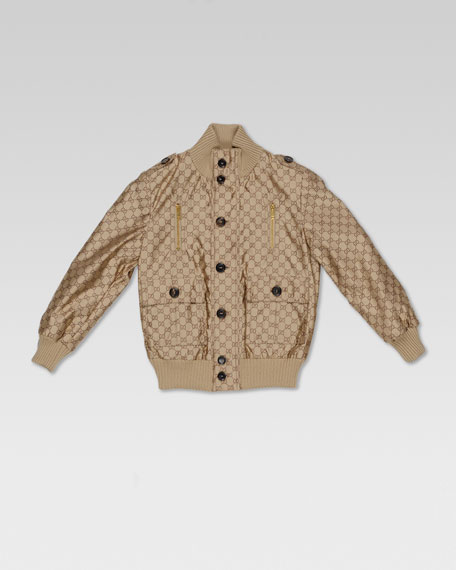 GG Jacquard Waterproof Bomber Jacket