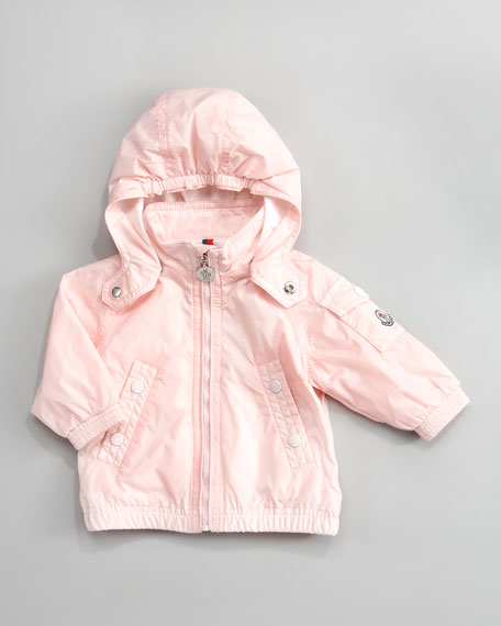 Coquet Classic Hooded Wind-Resistant Jacket, Light Pink