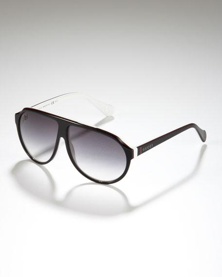 8a75816e512ff Gucci Children s Oversized Plastic Aviator Sunglasses