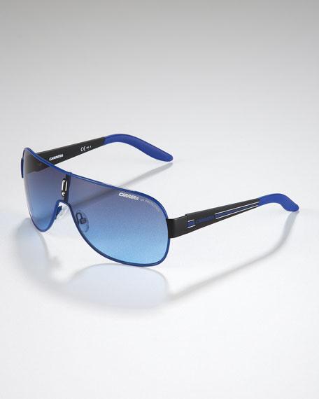 Children's Classic Carrerino Shield Sunglasses, Blue/Black