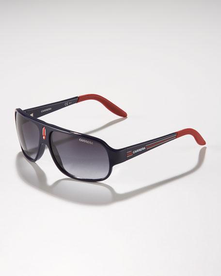 Children's Mid-Size Classic Carrerino Sunglasses, Blue/Red