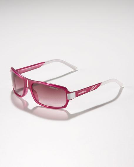 Children's Small Classic Carrerino Sunglasses, Fuchsia/White