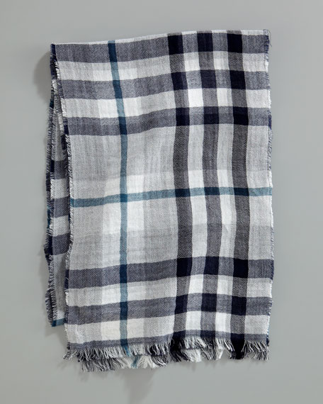 Reversible Giant Check Scarf