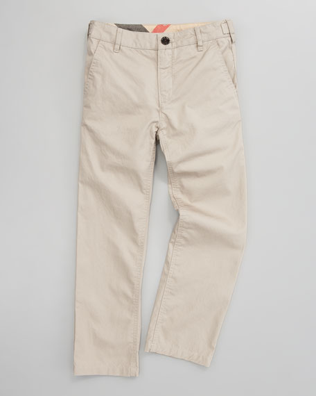 Twill Pants, Sizes 7-10