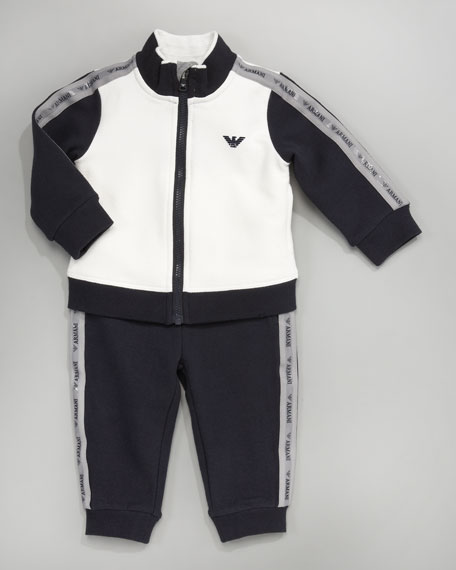 Colorblocked Logo Jogging Suit