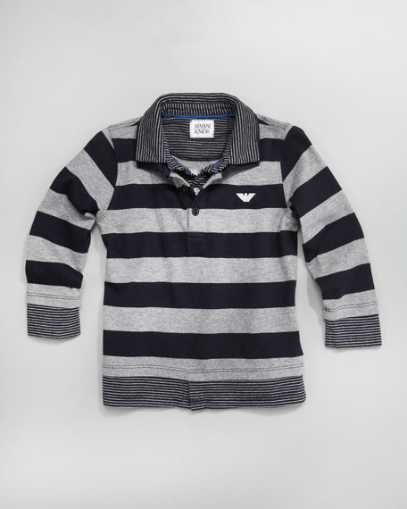 Striped Illusion-Layer Polo