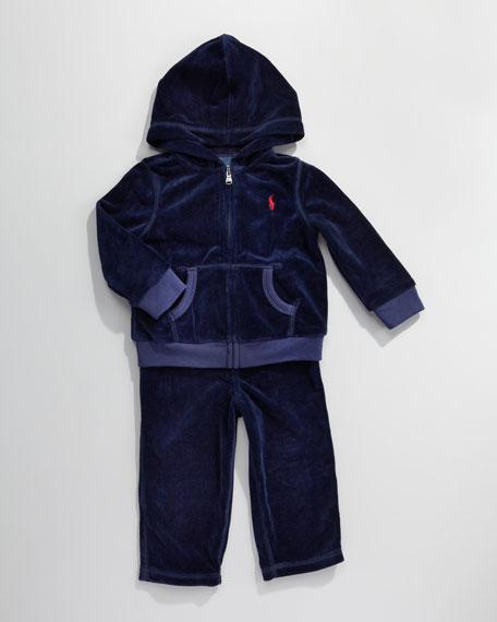 Velour Track Suit, 3-9 Months