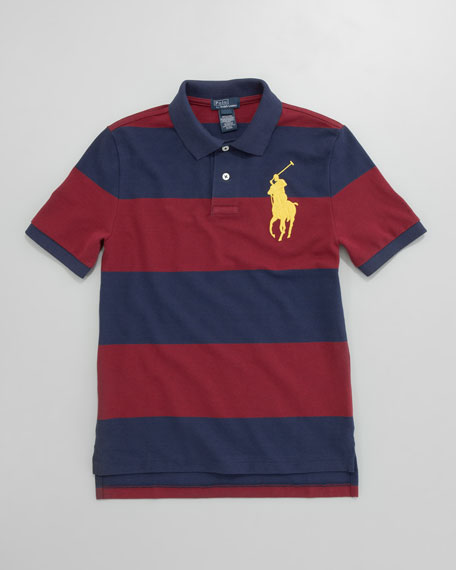 Big Pony Striped Polo, Sizes 12-24 mos