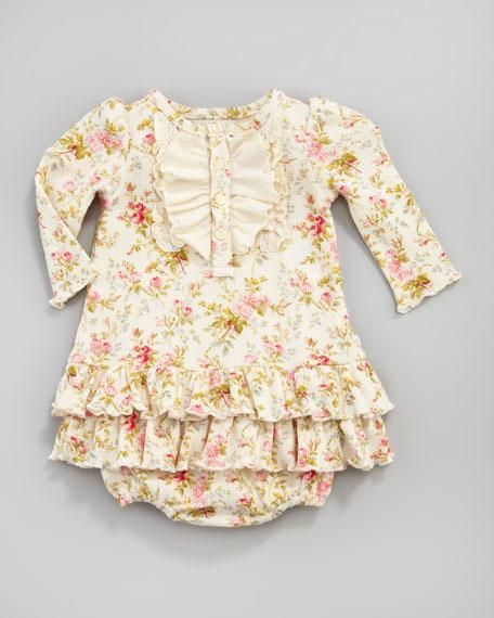 Floral-Print Ruffle Tunic