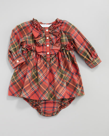 Plaid Flannel Dress, 12-24 Months