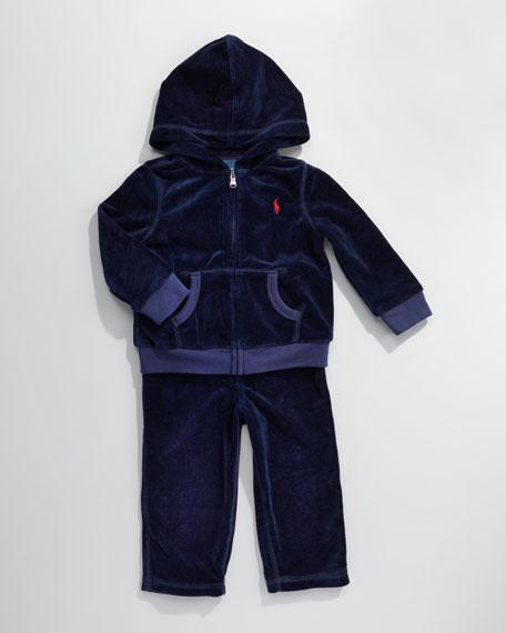 Velour Track Suit, 12-24 Months