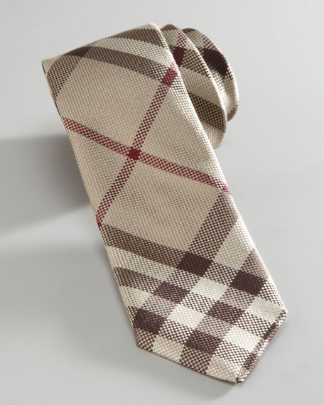 Mini Smoked Check Silk Tie