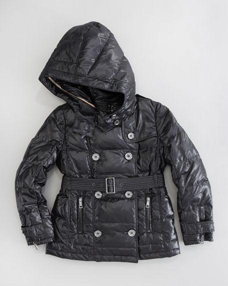 Glossy Puffer Coat