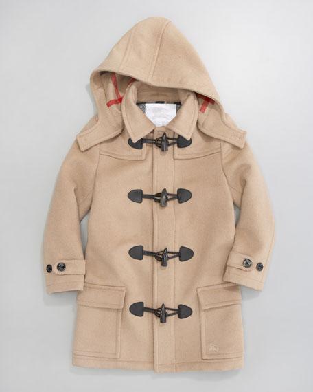 Unisex Mini Toggle Coat, Camel