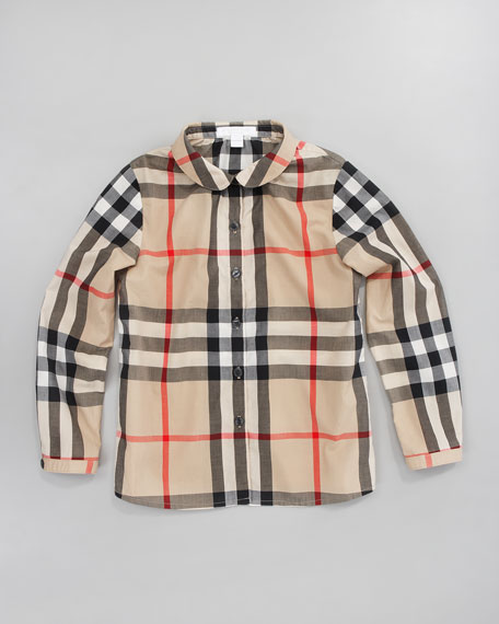 Long-Sleeve Check Shirt