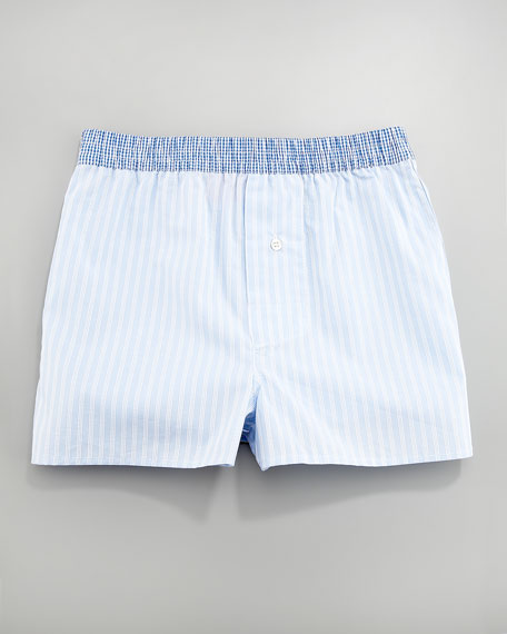 Woven Striped Boxers
