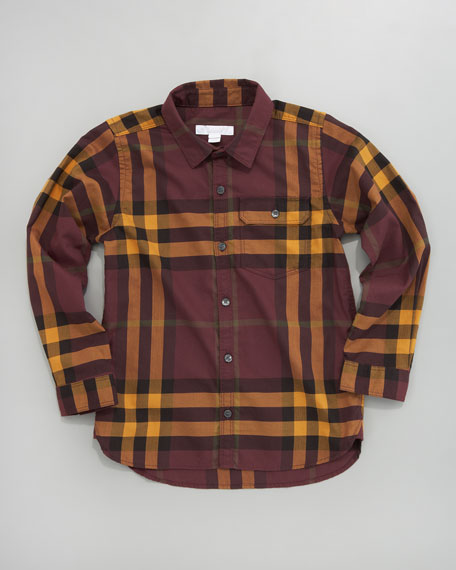 Mini Long-Sleeve Check Shirt