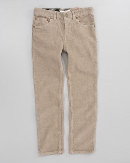 Slim-Fit Corduroy Pants