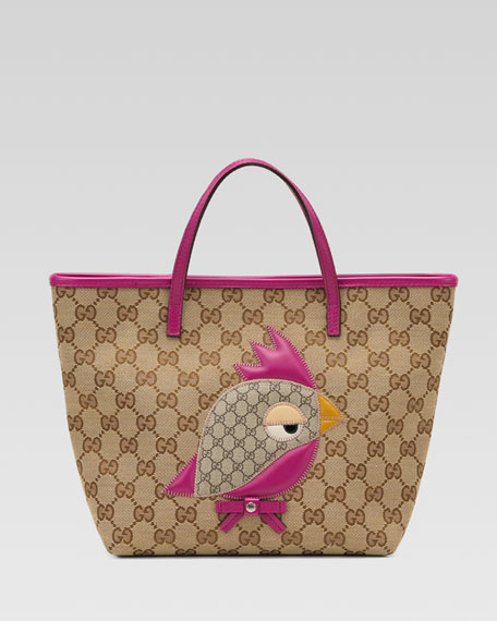 Zoo Bird Patch Tote Bag