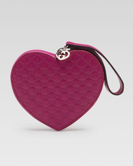 Micro Guccissima Heart Wristlet