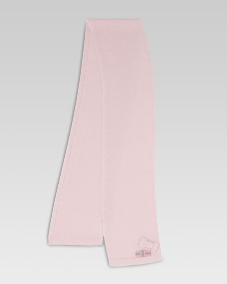 Tricot Wool Scarf, Pink