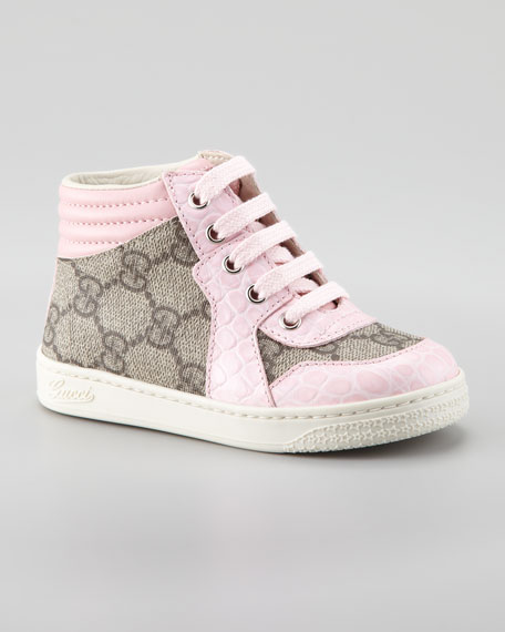 Coda GG Lace-Up Pink Sneaker, Sizes 20-26