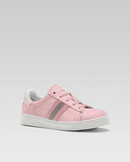 Ace Lace-Up Sneaker, Pink
