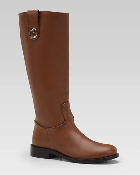 Leather Riding Boot, Cuir