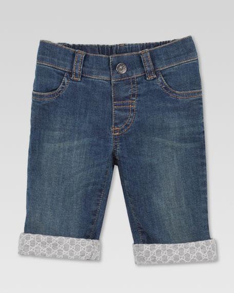GG-Print Cuffed Jeans