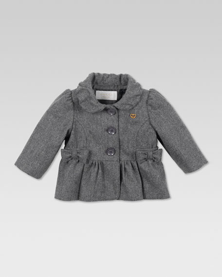 Wool Bow Jacket, Gray