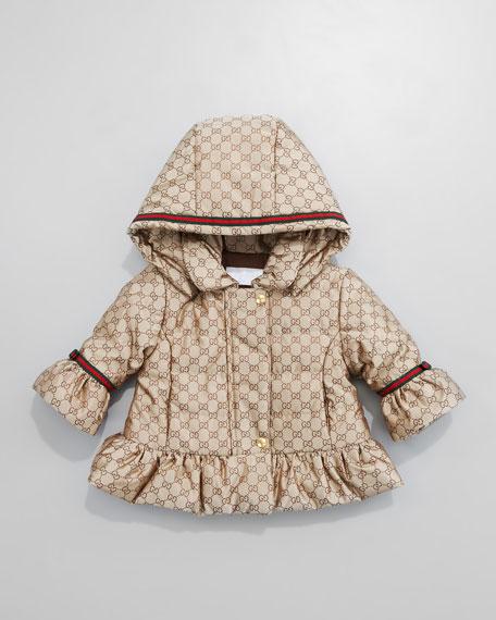 Mini GG Jacquard Waterproof Jacket