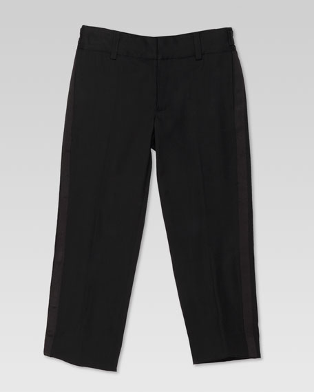Stretch Wool Tuxedo Pants