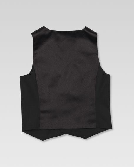 Stretch Wool Tuxedo Vest