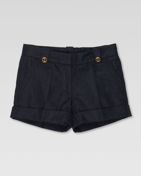 Cuffed Wool Shorts