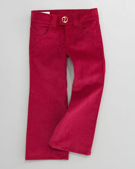 Velvet Corduroy Pants, Magenta