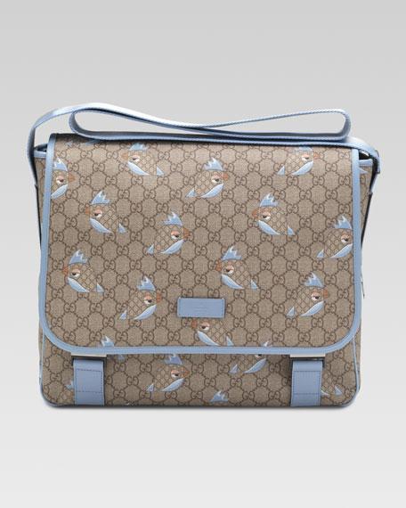 57a6a67dfbe Gucci GG Zoo Birds Print Diaper Bag