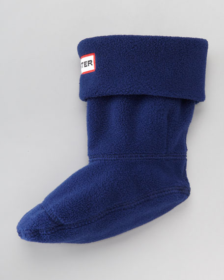 First Fleece Welly Sock, Navy