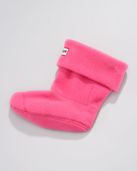 """Kids First Wellie"" Fleece Sock, Fuchsia"