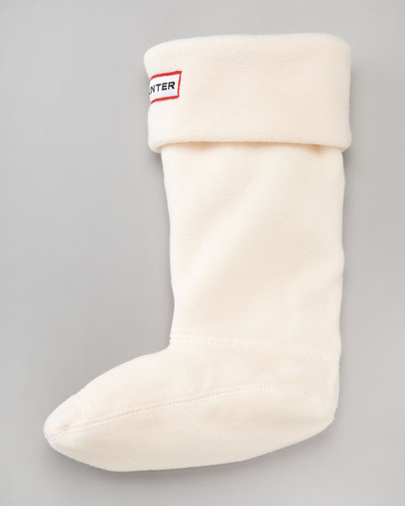 """Kids First Wellie"" Fleece Sock, Cream"
