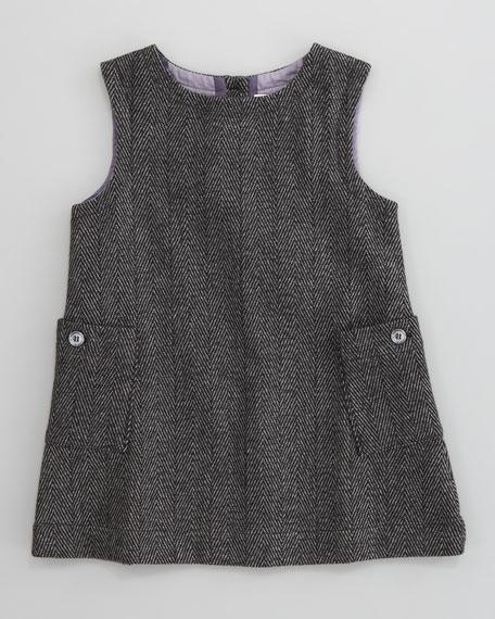 Herringbone Tweed Dress