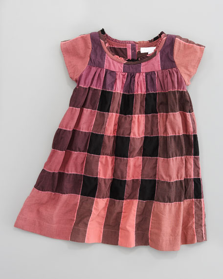 Giant Exploded Check Dress, 18M-2Y