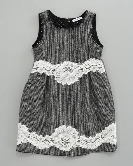 Herringbone Combo Dress